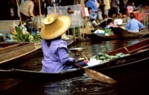 The floating markets of Damnoen Saduak, Thailand