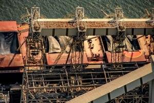 Aerial Photography, Ship loading grain